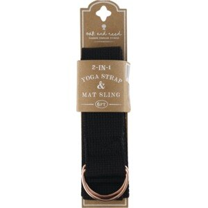 Oak and Reed 2-in-1 Yoga Strap & Mat Sling, Black