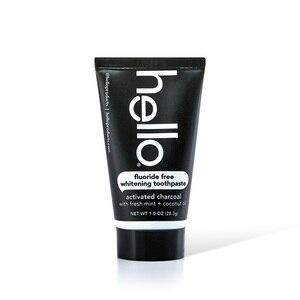 Hello Activated Charcoal Epic Whitening Fluoride Free Toothpaste, Fresh Mint + Coconut Oil, 1oz