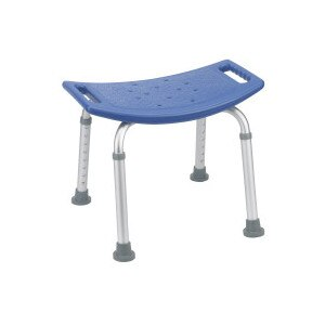 Drive Medical Bathroom Safety Shower Tub Bench Chair, Blue