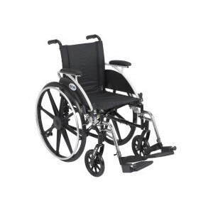 Drive Medical Viper Wheelchair with Flip Back Removable Desk Arms, Footrests