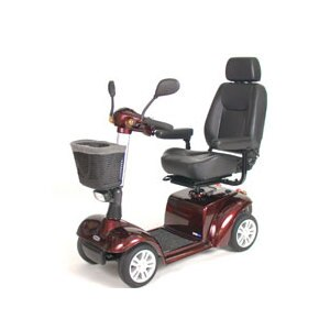 Drive Medical Pilot 4-Wheel Power Scooter Burgundy 20