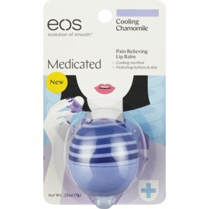 Eos Evolution Of Smooth Medicated Pain Relieving Lip Balm Cooling