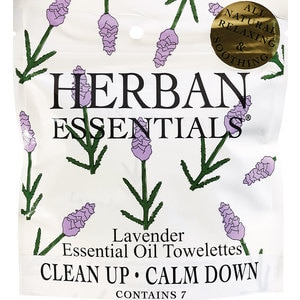 Herban Essentials Lavender Essential Oil Towelettes, 7/Pack