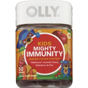 Olly Kids Mighty Immunity Gummies Cherry Berry, 50CT