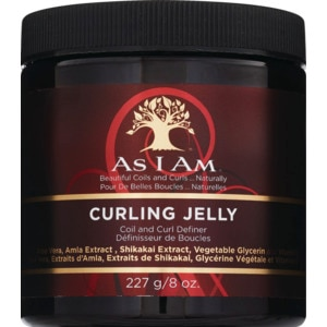 As I Am Curling Jelly Coil and Curl Definer - Jalea para dar forma a los rizos, 8 oz