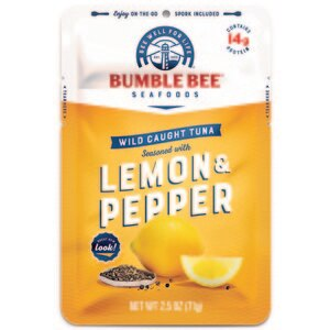 Bumble Bee Lemon & Pepper Wild Caught Tuna Pouch, 2.5 OZ