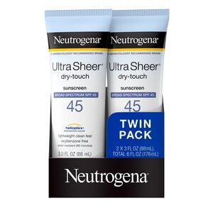 Neutrogena Ultra Sheer DRY-TOUCH SPF45 Twinpack, 6 OZ