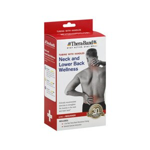 Thera-Band Resistance Tubing With Handles Neck and Lower Back Wellness Level 1 Beginner