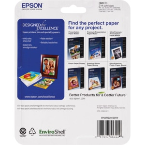 Epson Exceed Your Vision Black Ink Twin Pack - (with Photos