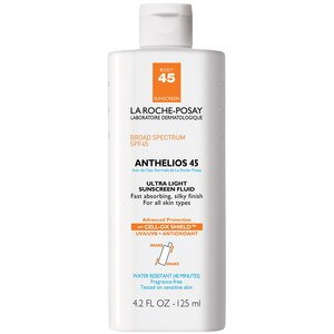 La Roche-Posay Anthelios Ultra Light Sunscreen Fluid For Body SPF 45, 4.2 OZ