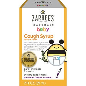 Zarbee's Naturals Baby Cough Syrup, Natural Grape Flavor, 2 OZ