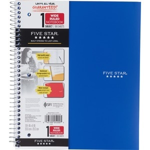 Mead Five Star 1 Subject Notebook College Wide Ruled