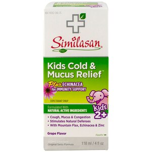Similasan Kids Cold and Mucus Relief Syrup, 4 OZ