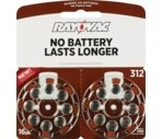 Rayovac World's Longest Lasting Mercury Free Hearing Aid Batteries Size 312 Value Pack