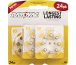 Rayovac World's Longest Lasting Mercury-Free Hearing Aid Batteries Size 10