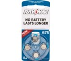 Rayovac World's Longest Lasting Mercury-Free Hearing Aid Batteries Size 675
