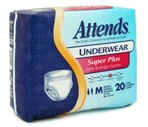 Attends Underwear Med, Super Plus Absorbency (34-44 Inches) Case