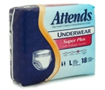 Attends Underwear Large, Super Plus Absorbency (44-58 Inches) Case