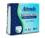 Attends Breathable Briefs with Tabs Extra Absorbent, Small (20-32 Inches) Case