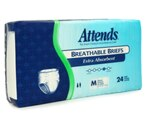Attends Breathable Briefs Extra Absorbent, Medium (32-44 Inches) Case