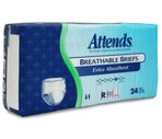 Attends Breathable Briefs with Tabs Extra Absorbent, Regular (44-56 Inches) Case
