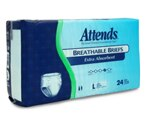 Attends Breathable Briefs Extra Absorbent, Large (44-58 Inches) Case