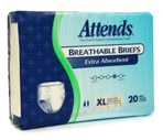 Attends Breathable Briefs Extra Absorbent, X-Large (58-63 Inches) Case
