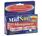 MidNite Nighttime Sleep Aid for Menopause Chewable Tablets Berry Flavor