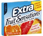 Extra Fruit Sensations Sugarfree Gum Sweet Tropical