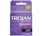 Trojan Her Pleasure Condoms Lubricated Latex