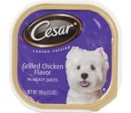 Cesar Canine Cuisine, Grilled Chicken Flavor In Meaty Juices