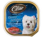 Cesar Savory Delights Canine Cuisine, Rotisserie Chicken Flavor with Bacon & Cheese