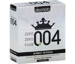 Okamoto Zero Zero Four 004 Almost Nothing Lightly Lubricated Latex Condoms