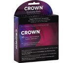 Crown Lightly Lubricated Latex Male Condoms Economy Pack