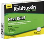 Adult Robitussin Peak Cold Nasal Relief Tablets