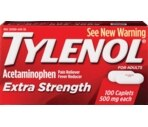Tylenol Extra Strength Pain Reliever/Fever Reducer 500 mg Caplets