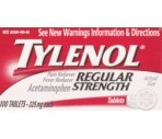 Tylenol Pain Reliever/Fever Reducer 325 Mg Regular Strength Tablets