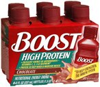 Boost High Protein Nutritional Energy Drink 6-Pack 8-Ounce Bottles Chocolate Case