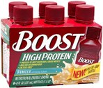 Boost High Protein Nutritional Energy Drink 6-Pack 8-Ounce Bottles Vanilla Case