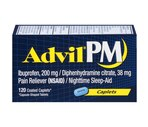 Advil Pain Reliever/Nighttime Sleep-Aid Coated Caplets