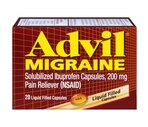 Advil Migraine Solubilized Ibuprofen Liquid Filled Capsules 200 mg