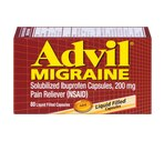 Advil Migraine Solubilized Ibuprofen Capsules