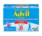 Advil Ibuprofen 100 mg Fever Reducer Chewable Tablets
