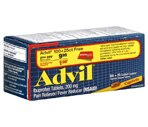 Advil Ibuprofen Pain Reliever/Fever Reducer Tablets 200 mg