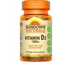 Sundown High Potency Vitamin D3 Softgels 1000 IU