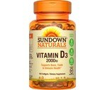 Sundown Naturals Super Potency D3 Vitamin D Softgels 2000 IU