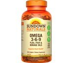 Sundown Naturals Triple Omega 3 - 6 - 9 Softgels