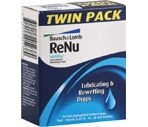 Bausch & Lomb Renu Multiplus Lubricating And Rewetting Drops Twin Pack