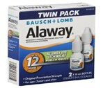 Bausch & Lomb Prescription Strength Allergy Eye Itch Relief, Twin Pack