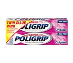 Poligrip Super Twin Pack Denture Adhesive Cream Zinc Free, Original